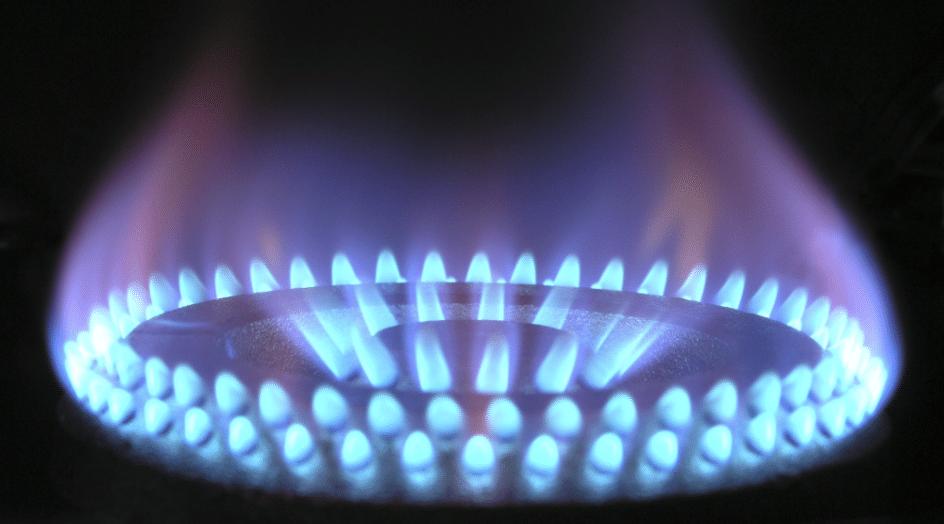 Close up gas hob